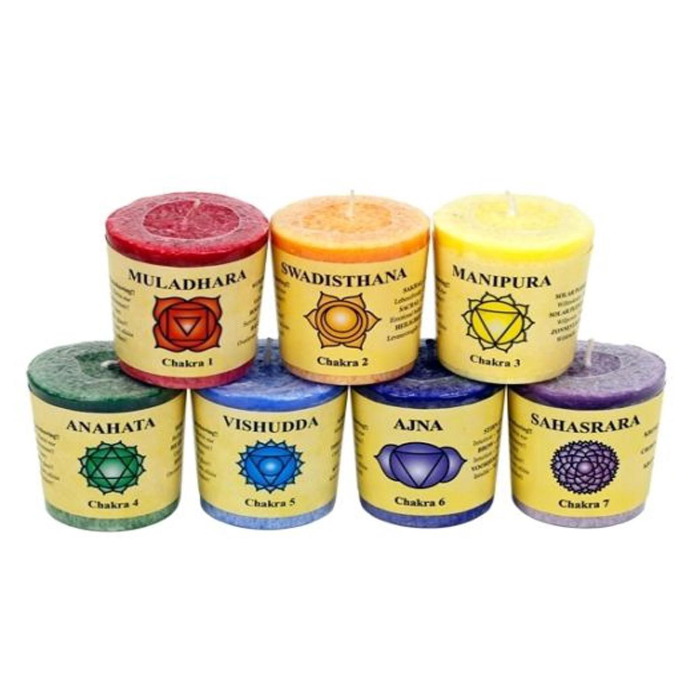 7 Chakra Aromatherapy Candle Set