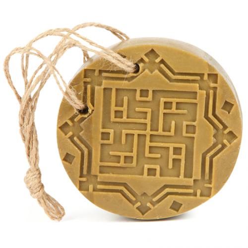 Najel Aleppo Amber & Oud Olive Soap with suspension cord