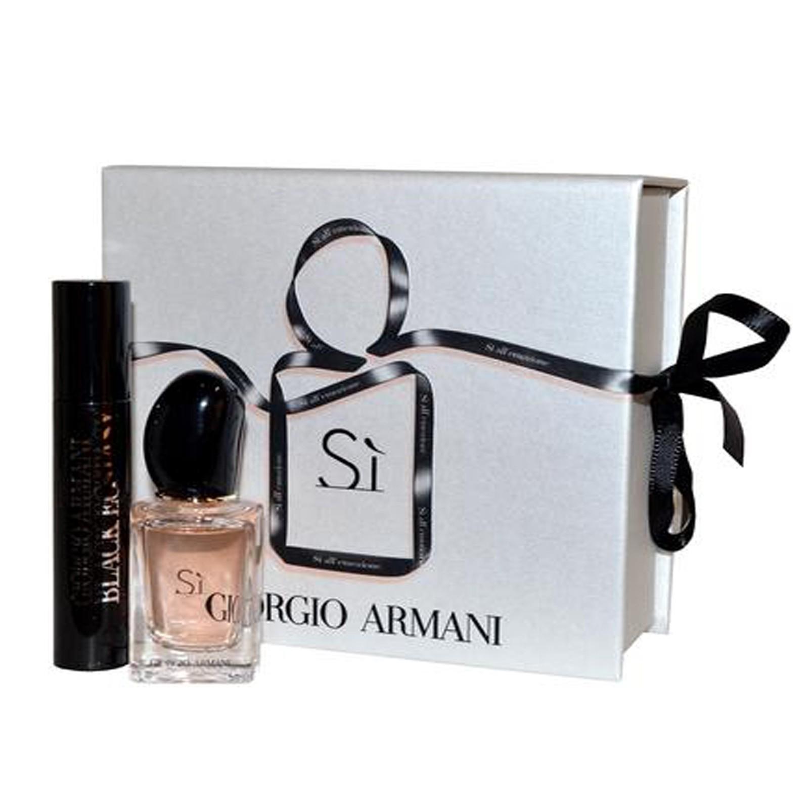 Giorgio Armani Si Parfum & Total Effect Black Mascara Gift Set
