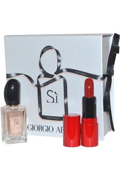 Giorgio Armani Si Parfum & Rouge Ecstasy Lipstick Set