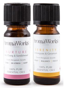 Aromaworks Serenity & Nurture Essential Oils