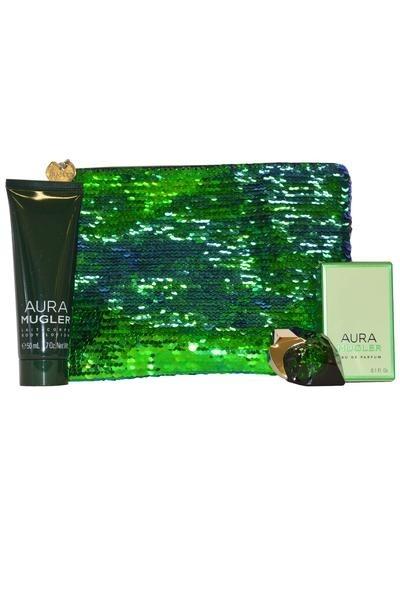 Thierry Mugler Aura Perfume & Body Lotion Travel Pouch Set