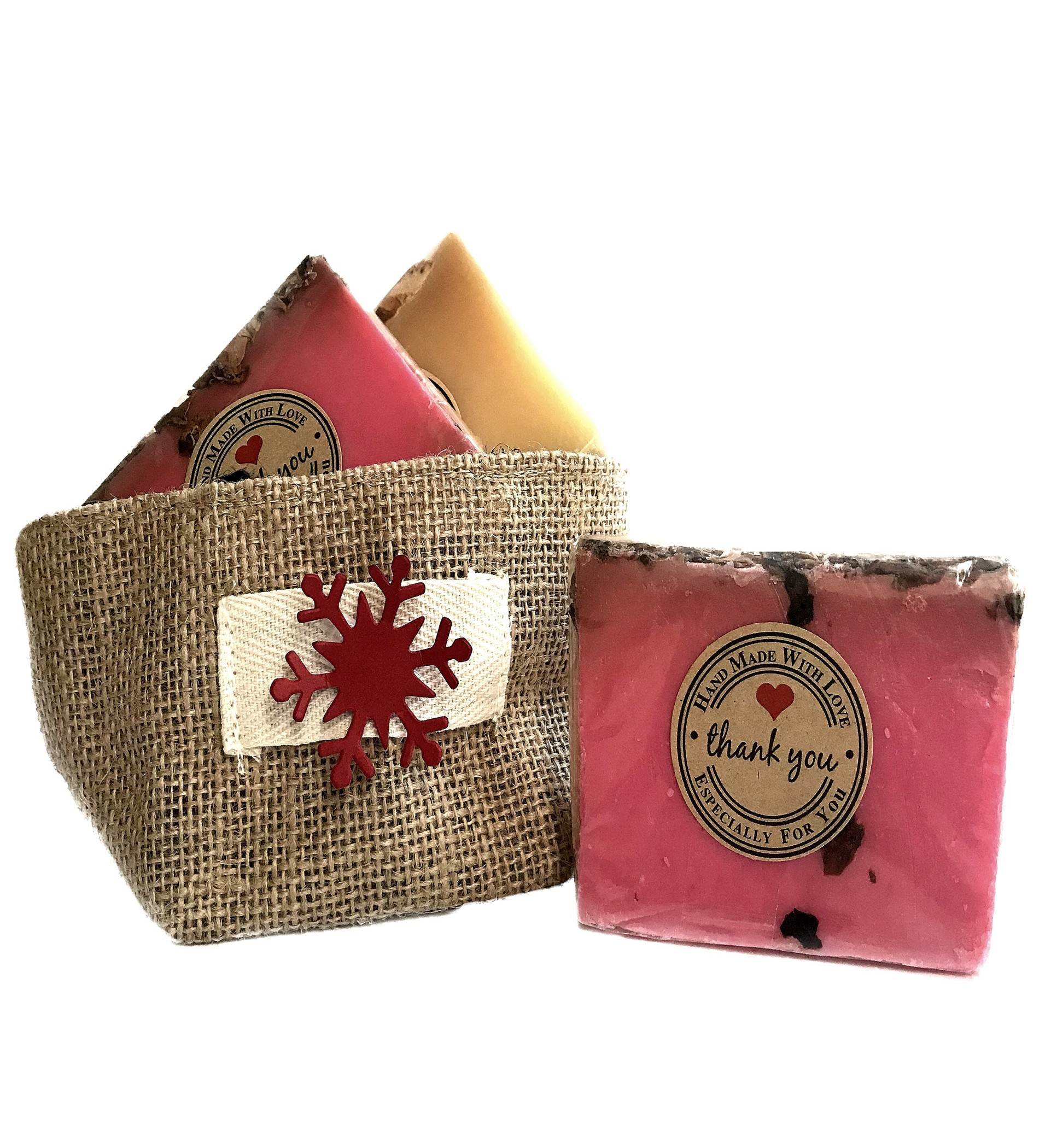 Natural Rose Petals & Orange Soap Gift Set