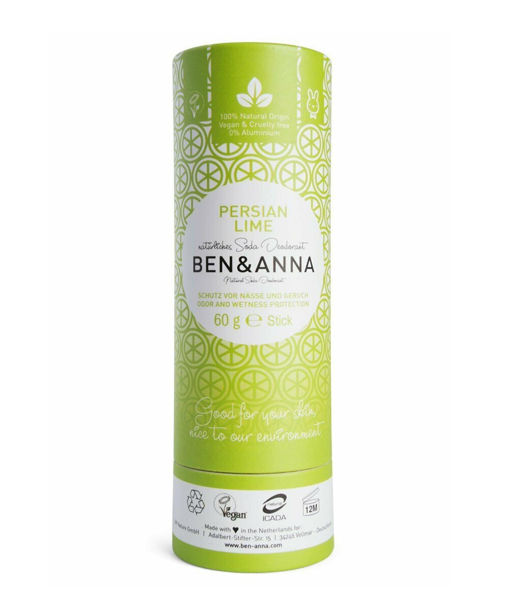 Ben & Anna Soda Natural Deodorant Persian Lime