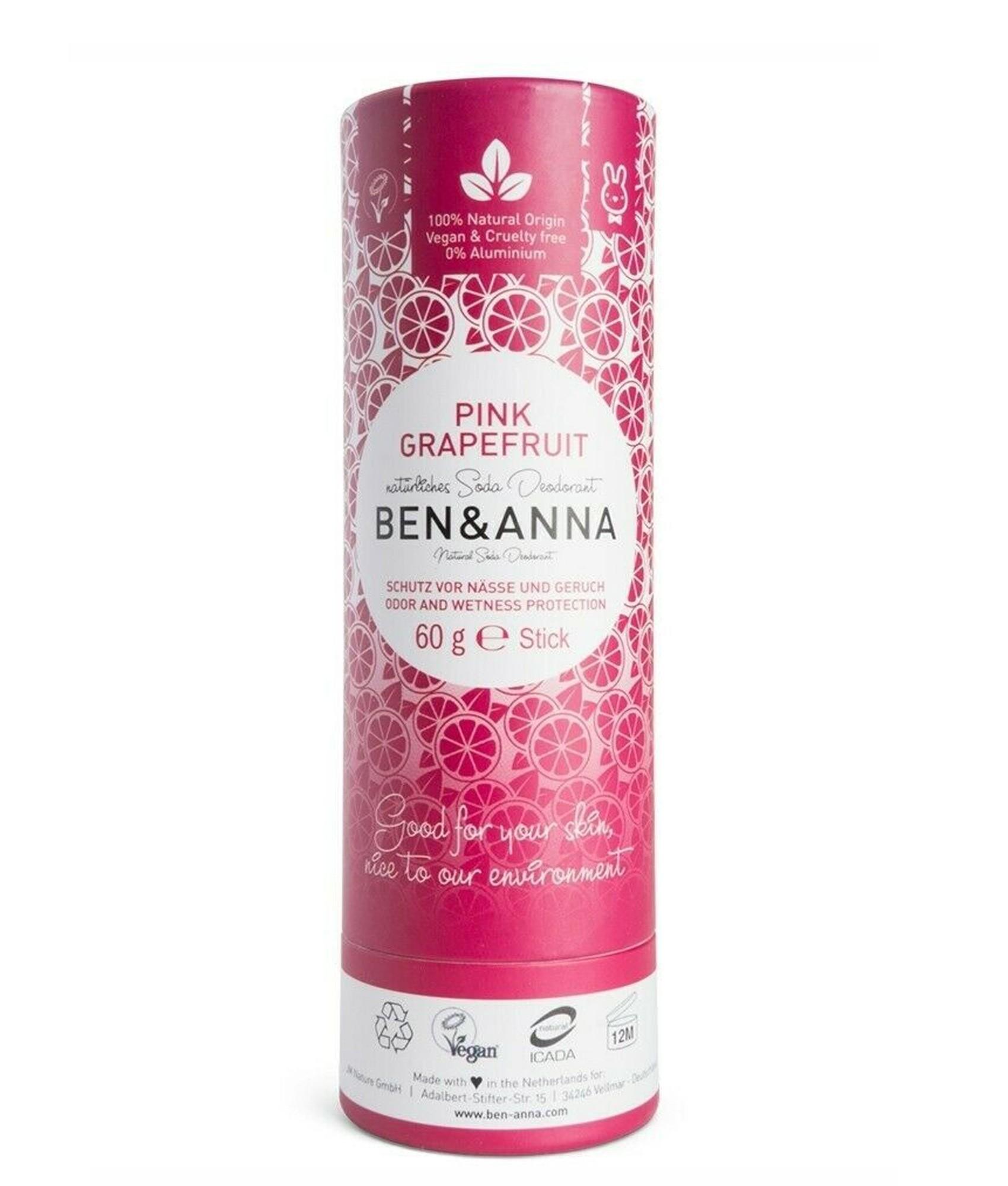 Ben & Anna Soda Natural Deodorant Pink Grapefruit