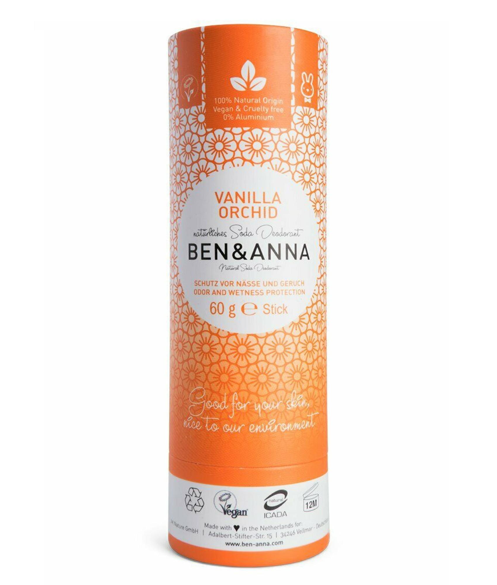 Ben & Anna Soda Natural Deodorant Vanilla Orchid