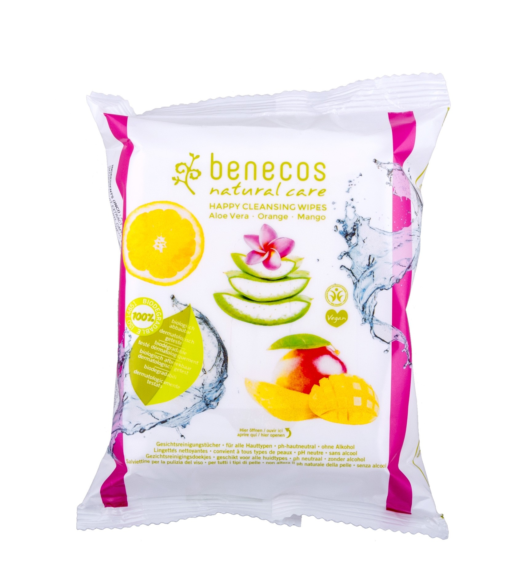 Benecos Natural Care Happy Cleansing Wipes
