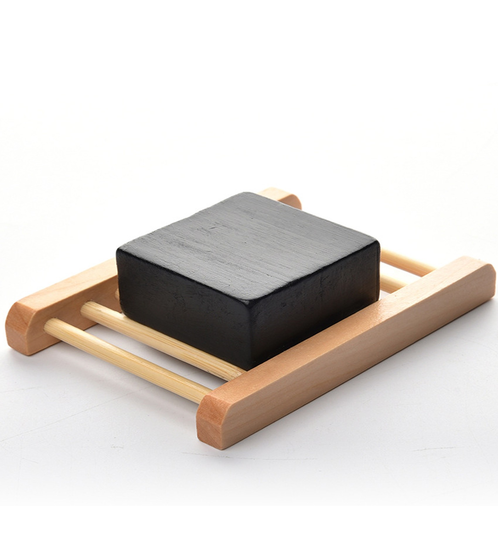 Activated Charcoal Soap & Dish Set