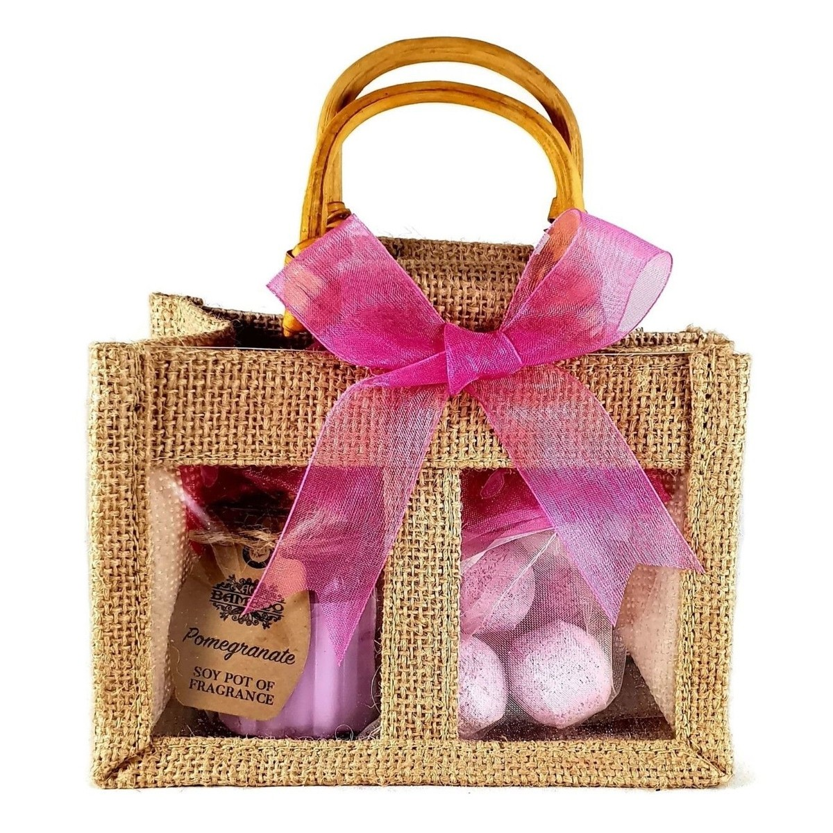 Chill Pills Bath Bombs & Candle Jute Bag Set