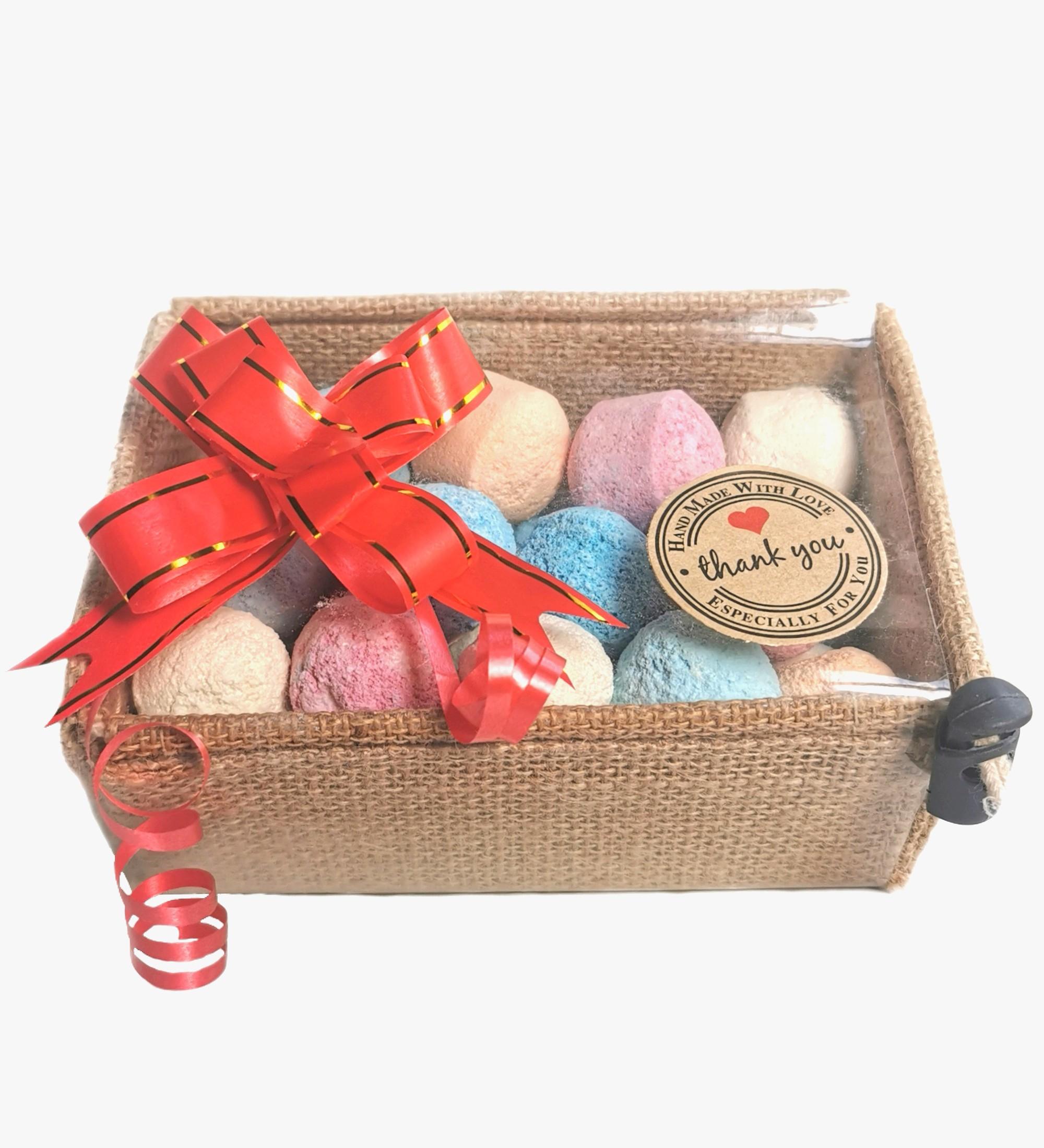 Handmade Chill Pills Bath Bombs Basket Set