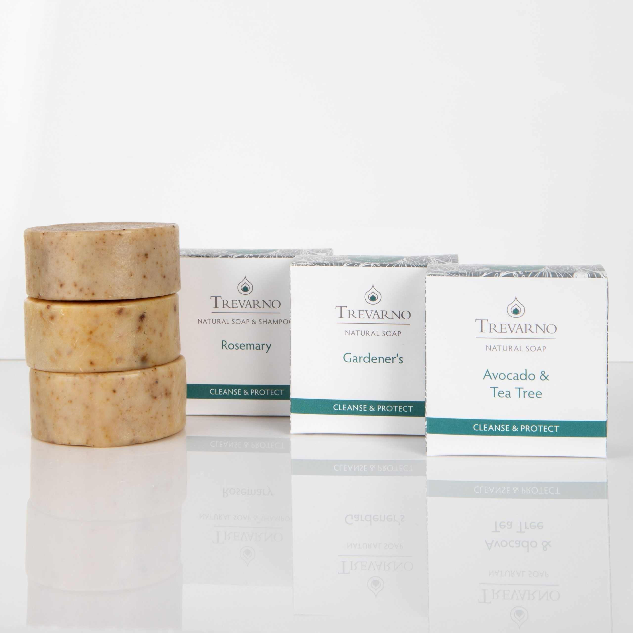 Trevarno Cleanse & Protect Trio Soaps