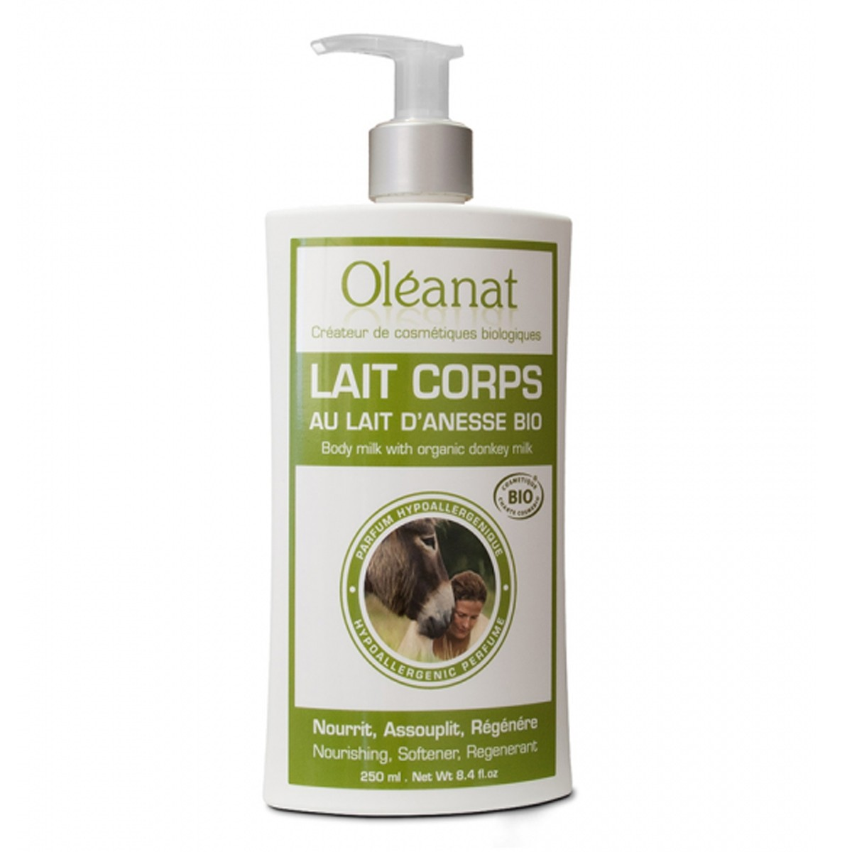 Oléanat Organic Hypoallergenic Donkey Body Milk