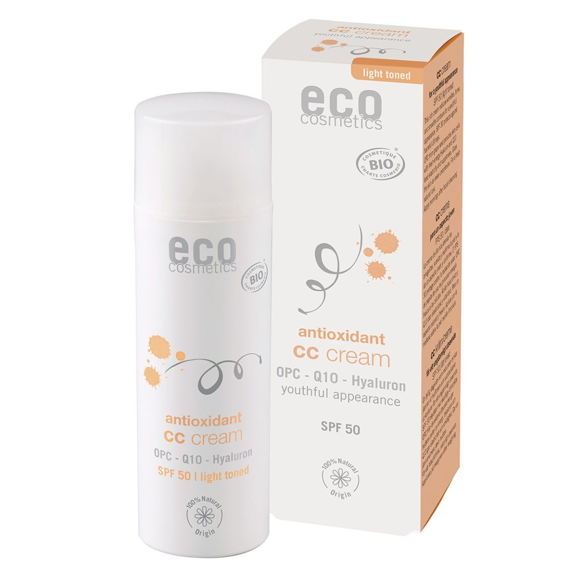 Eco Cosmetics Tinted CC Cream Antioxidant SPF 50