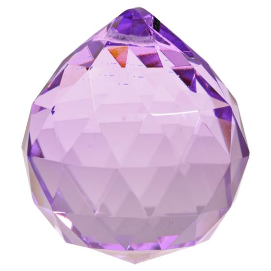 Feng Shui Crystal Sphere Purple