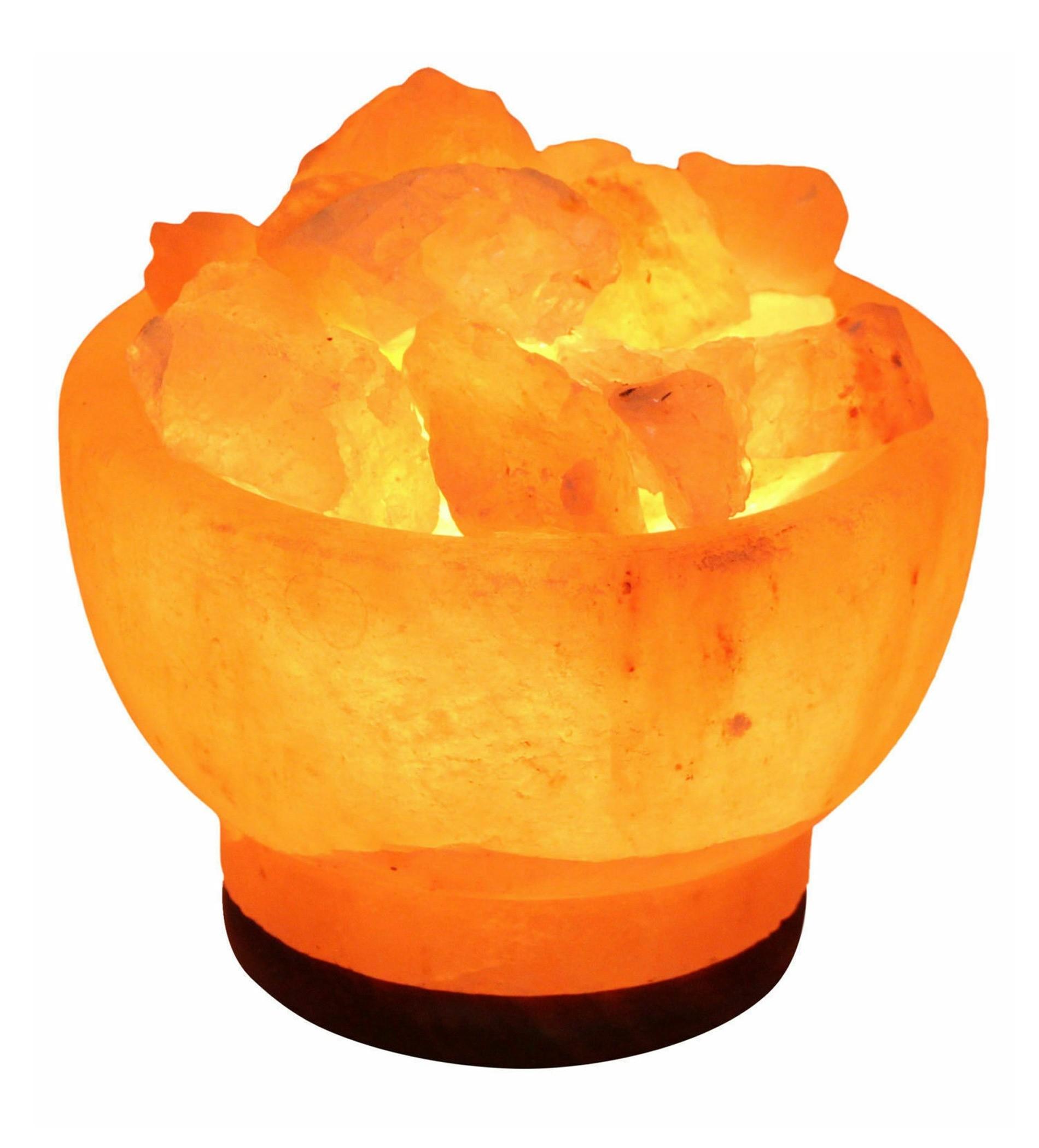 Fire Bowl Natural Himalayan Salt Lamp Pink Rock Crystal