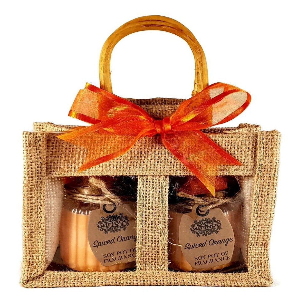 Scented Candles in Jute Bag Set