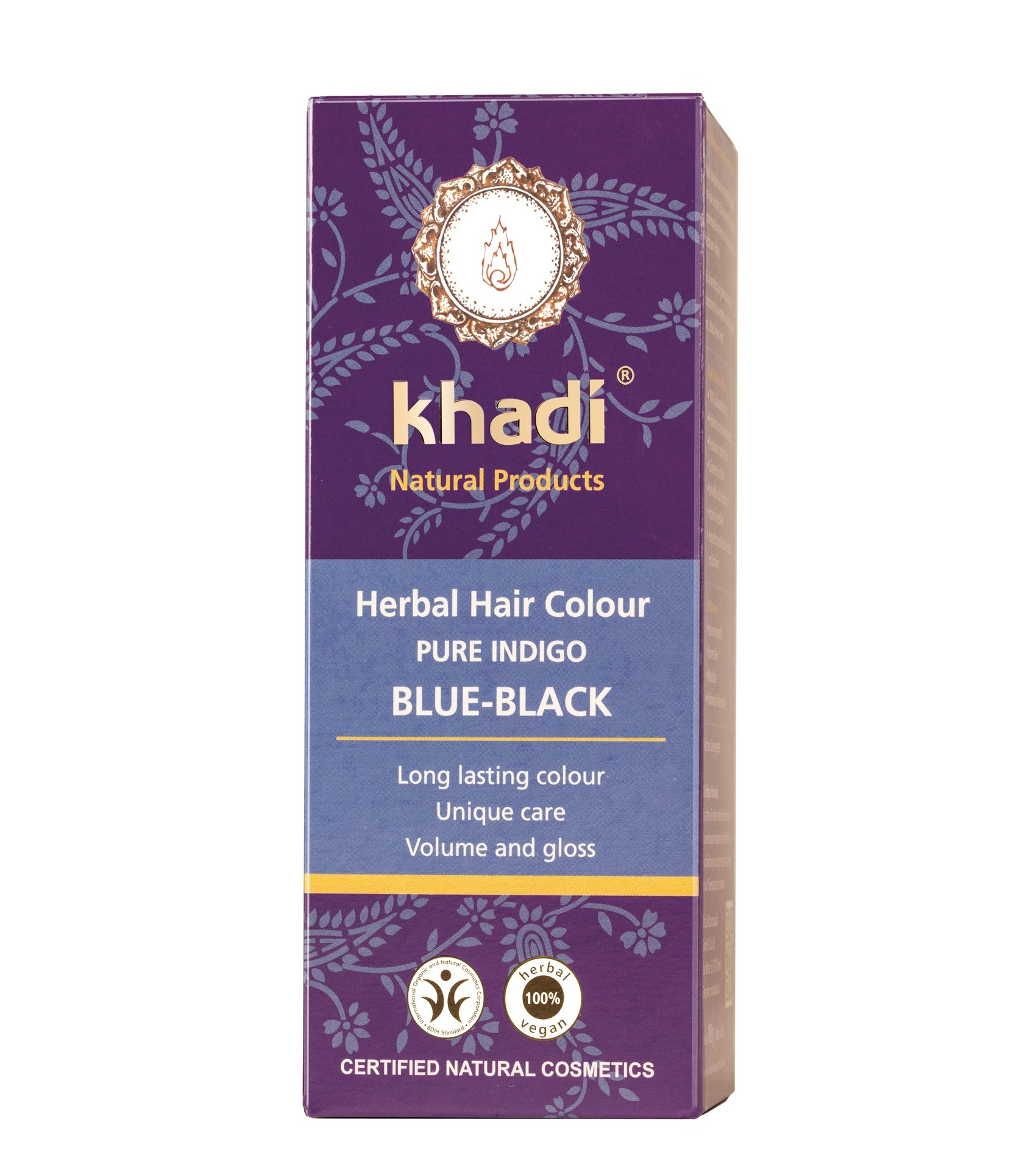 Khadi Herbal Hair Colour Pure Indigo Blue Black
