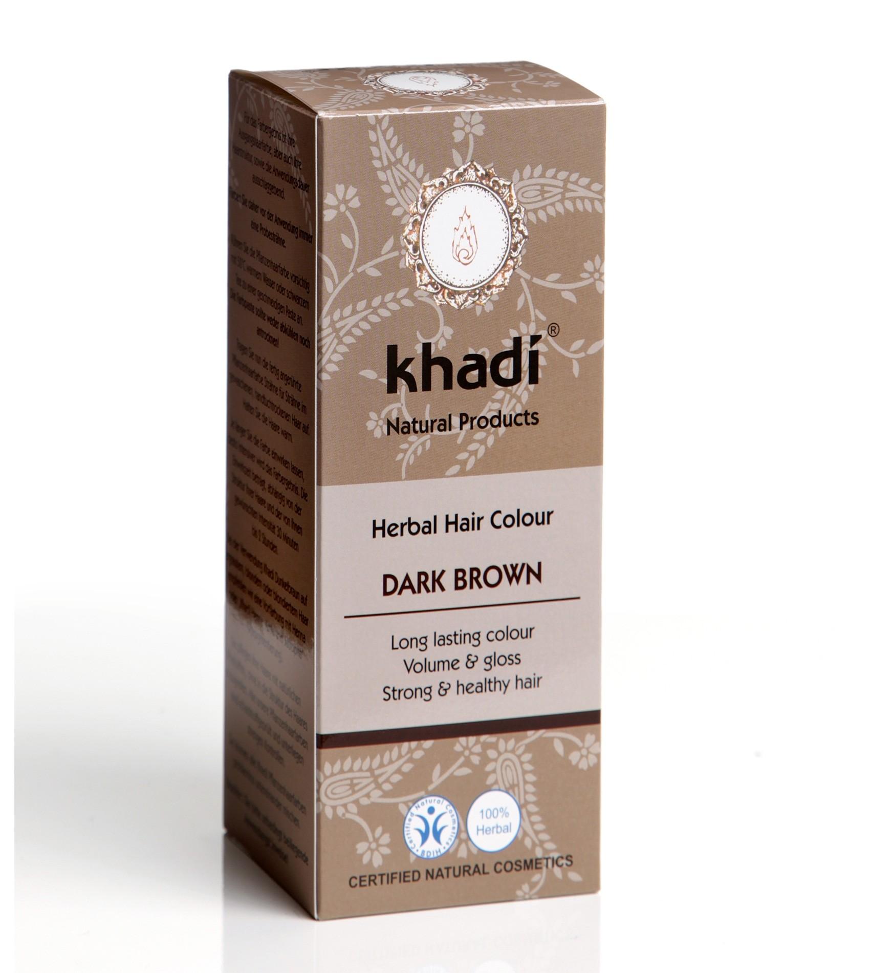 Khadi Herbal Hair Colour Dark Brown