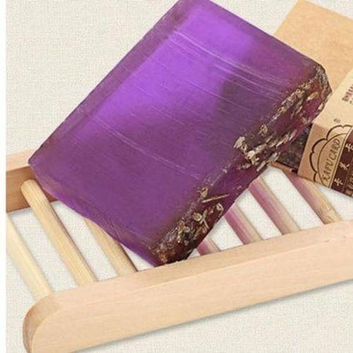Lavender Handmade Soap & Wooden Dish Set