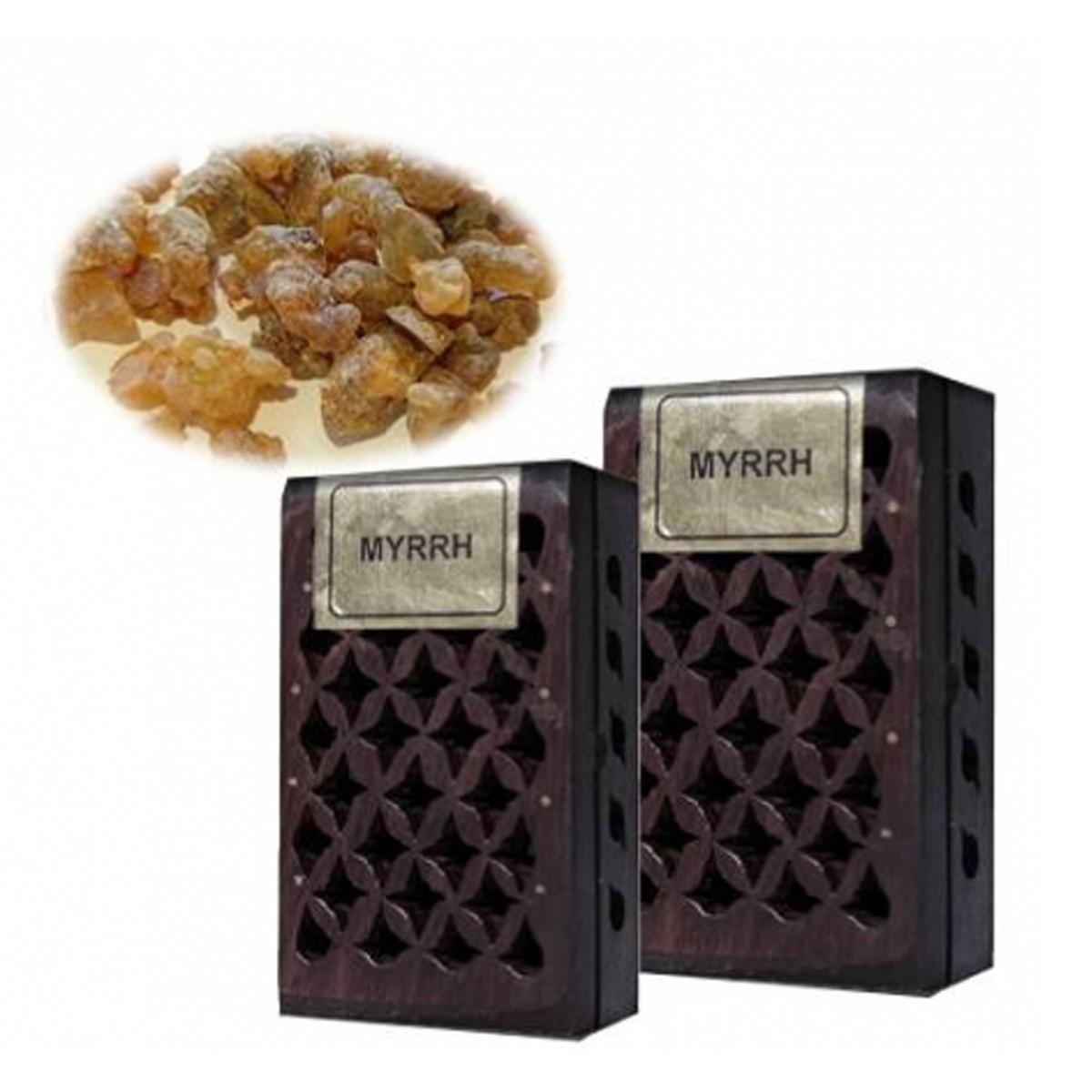 Incense Resin Myrrh in Wooden Box