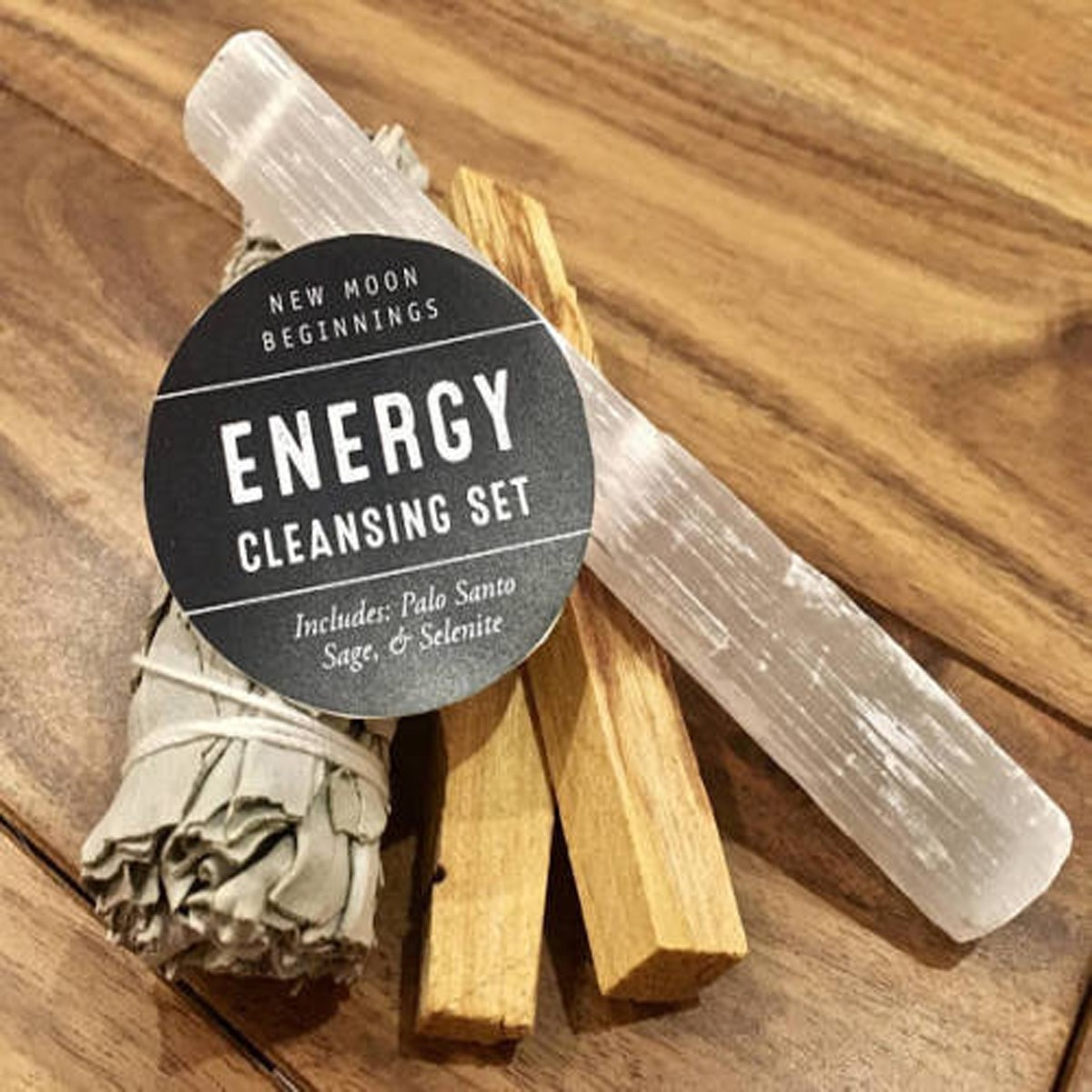 New Moon Energy Cleansing Smudge Ritual Set