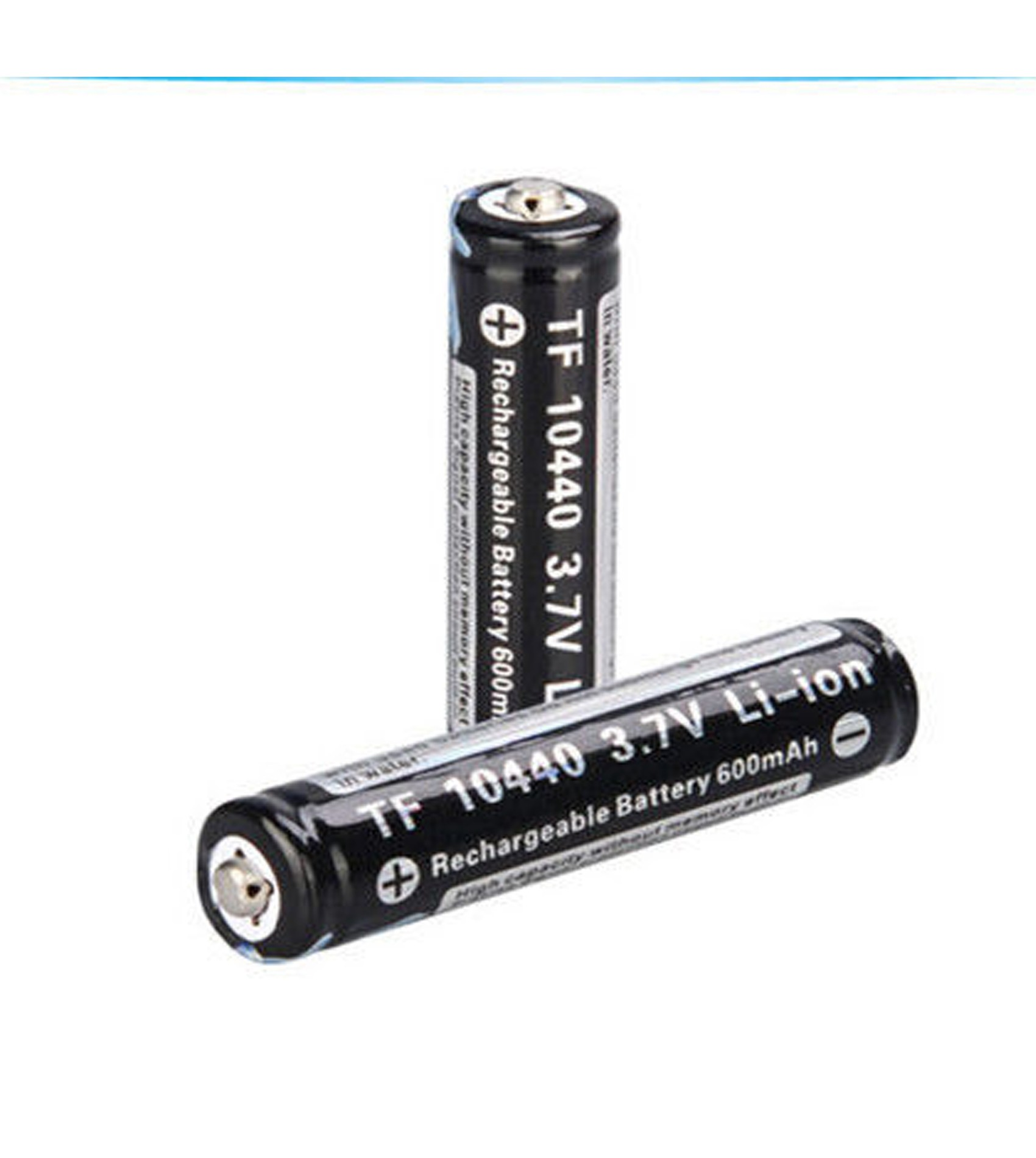 TrustFire 600mAh 10440 Rechargeable 3.7V Li-ion Battery For LED Flashlights