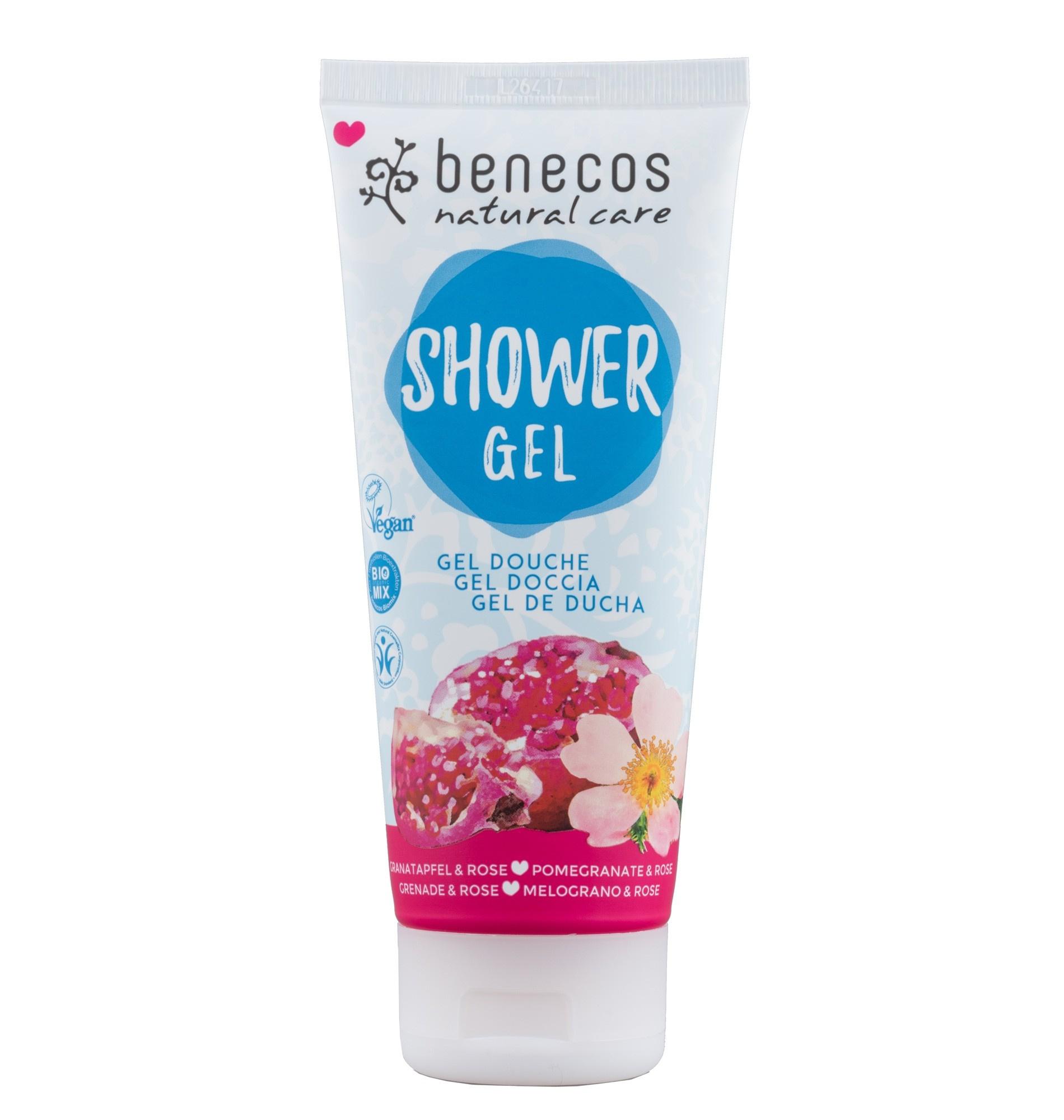 Benecos Vegan Pomegranate & Rose Shower Gel