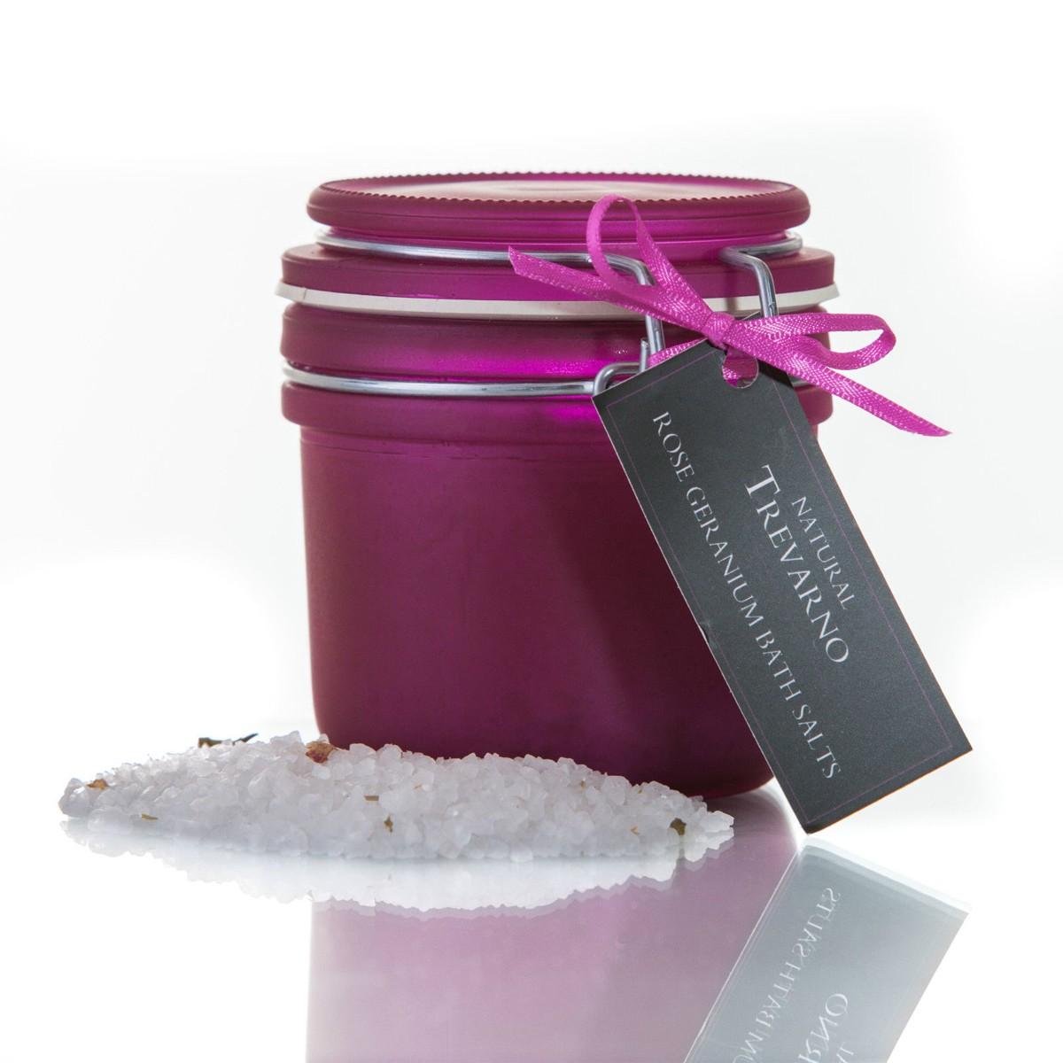 Organic Trevarno, Indulgent Rose Geranium Bath Salts
