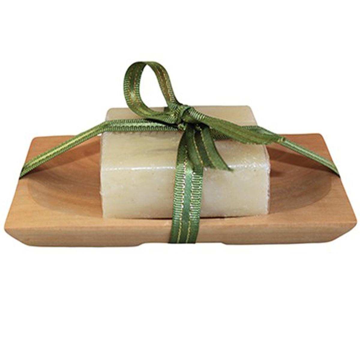 Handmade Honey Soap & Sandstone Dish Set