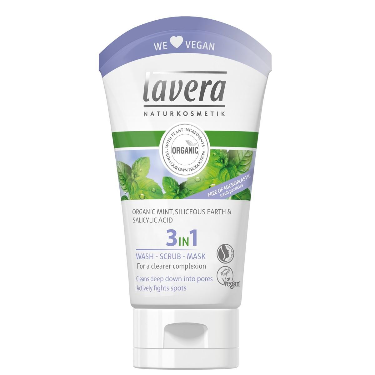 Lavera 3 in 1 Organic Face Wash Scrub & Mask