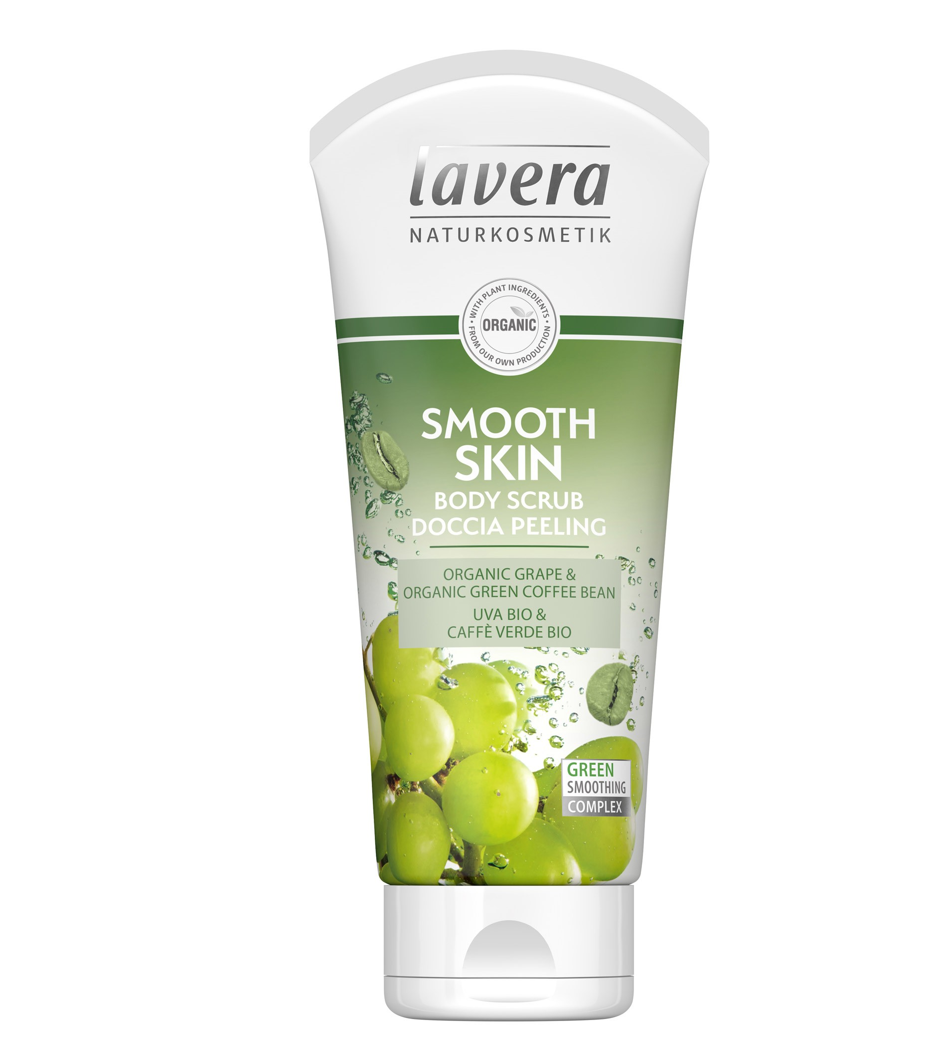 Lavera Smoothing 2in1 Scrub Shower Gel Grape & Green Coffee Bean