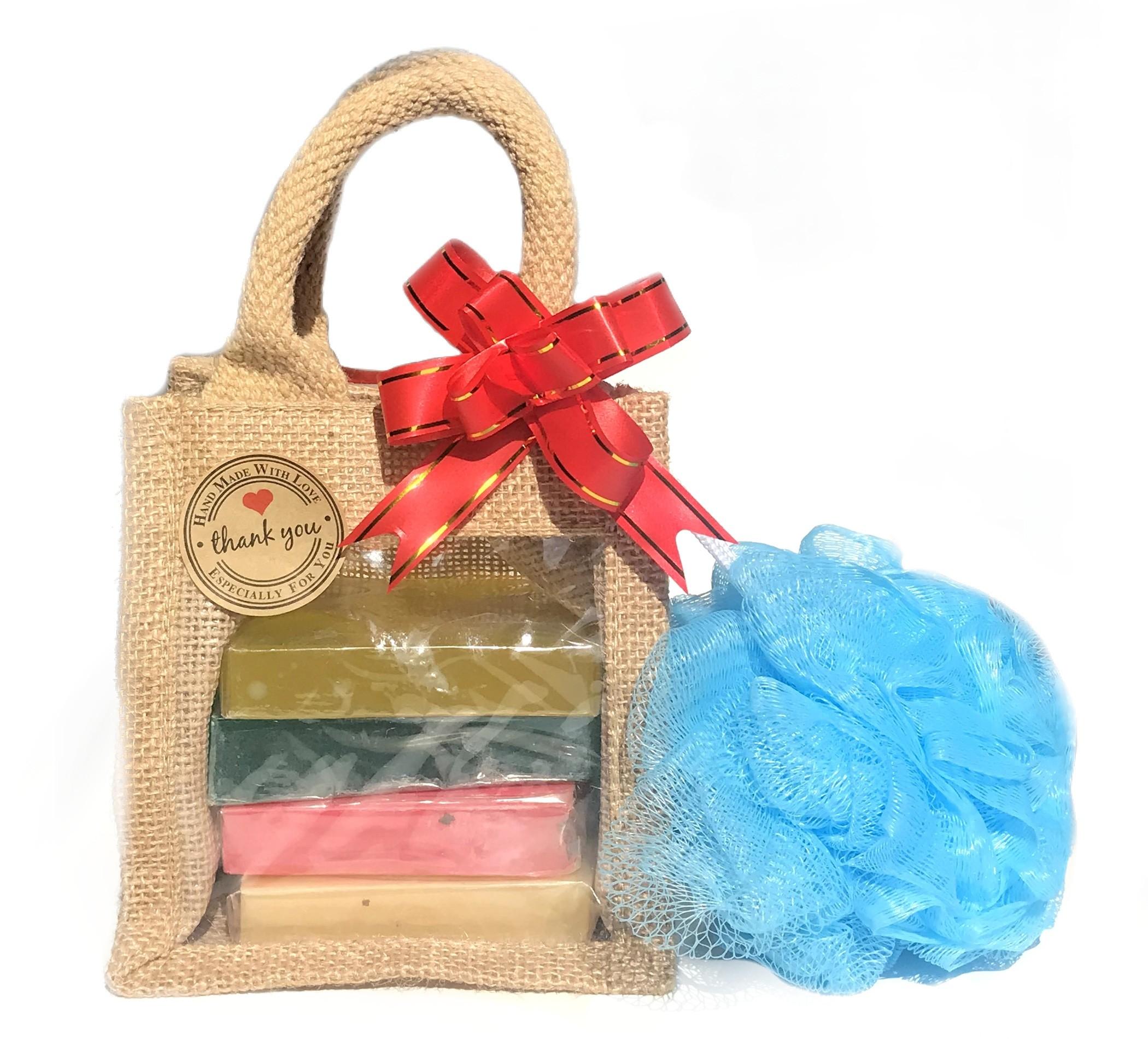 Soaps & Shower Scrunch Gift Set