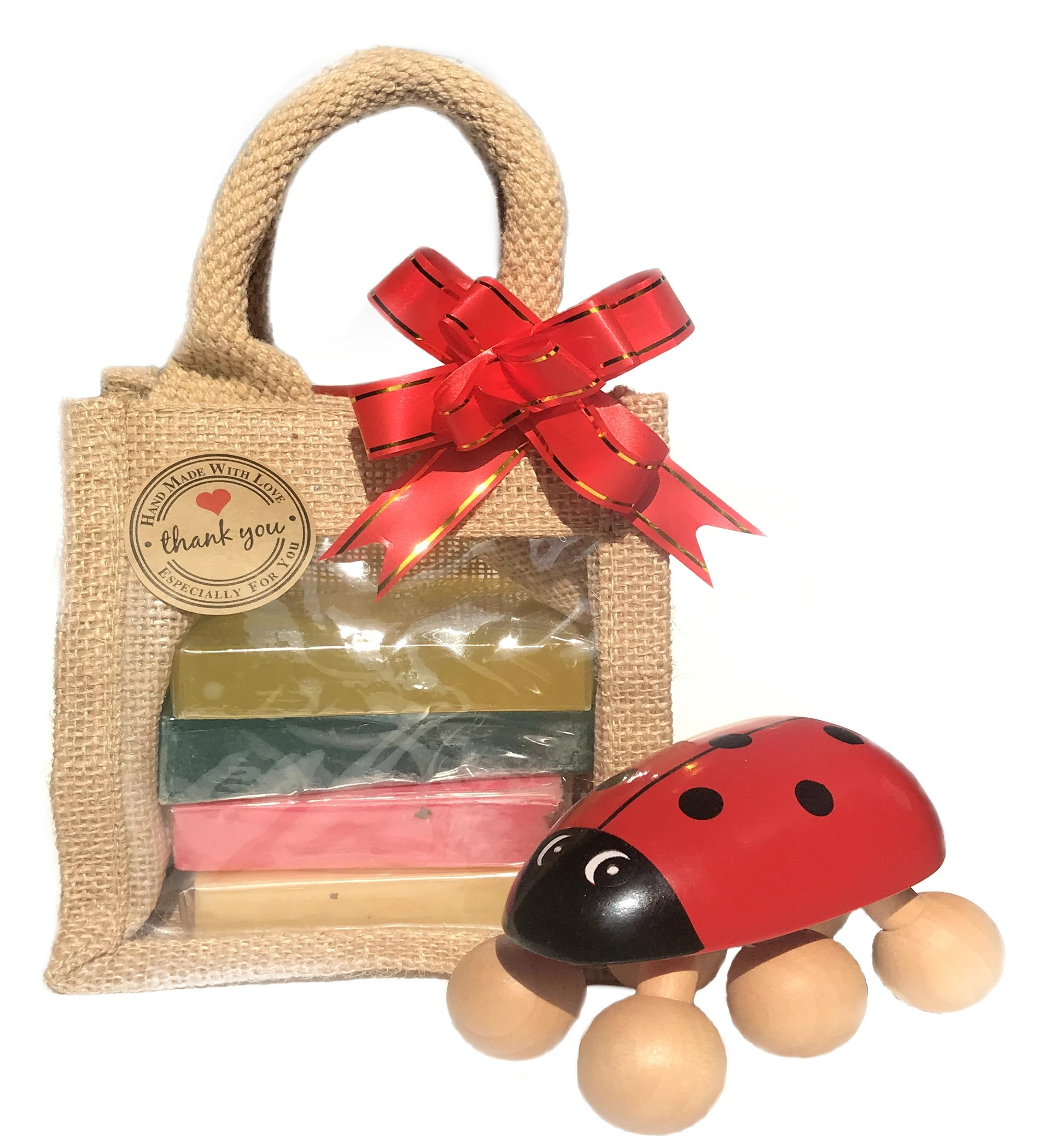 Soaps & Wooden Massager Gift Set