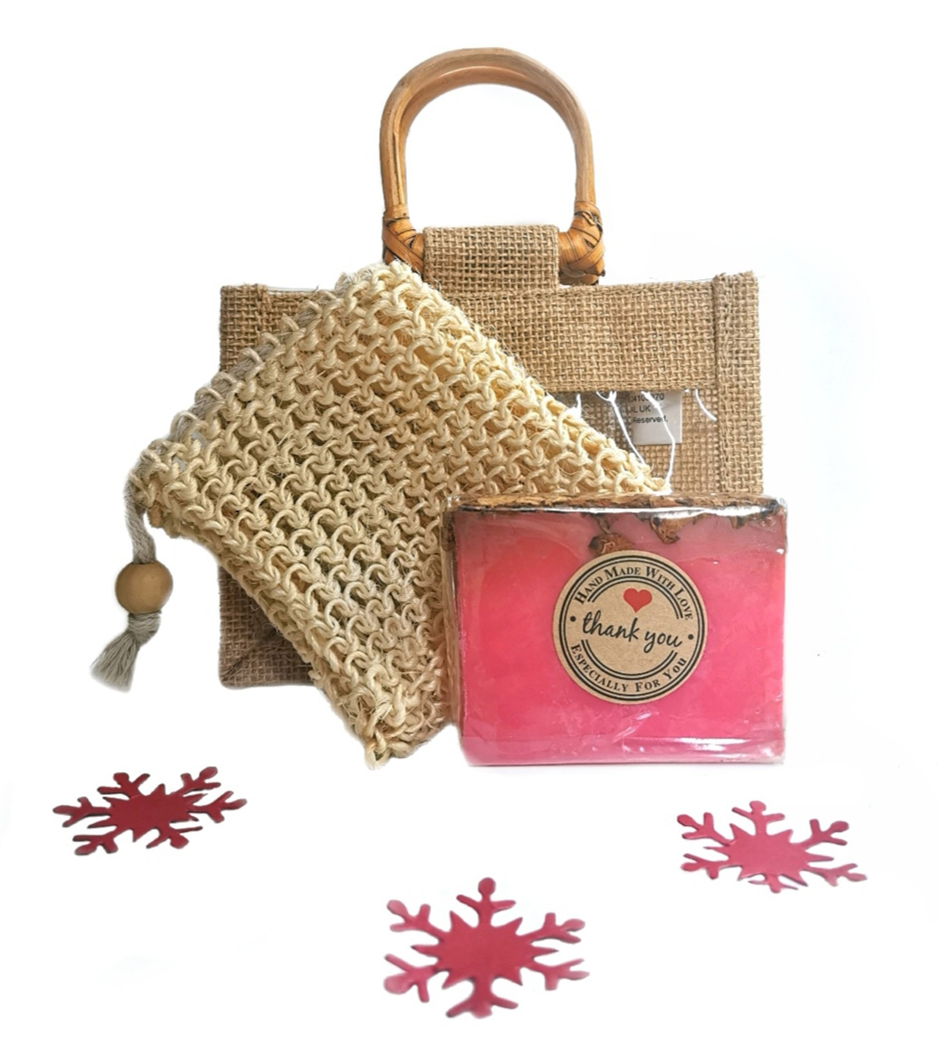 Natural Soap & Sisal Pouch Gift Set