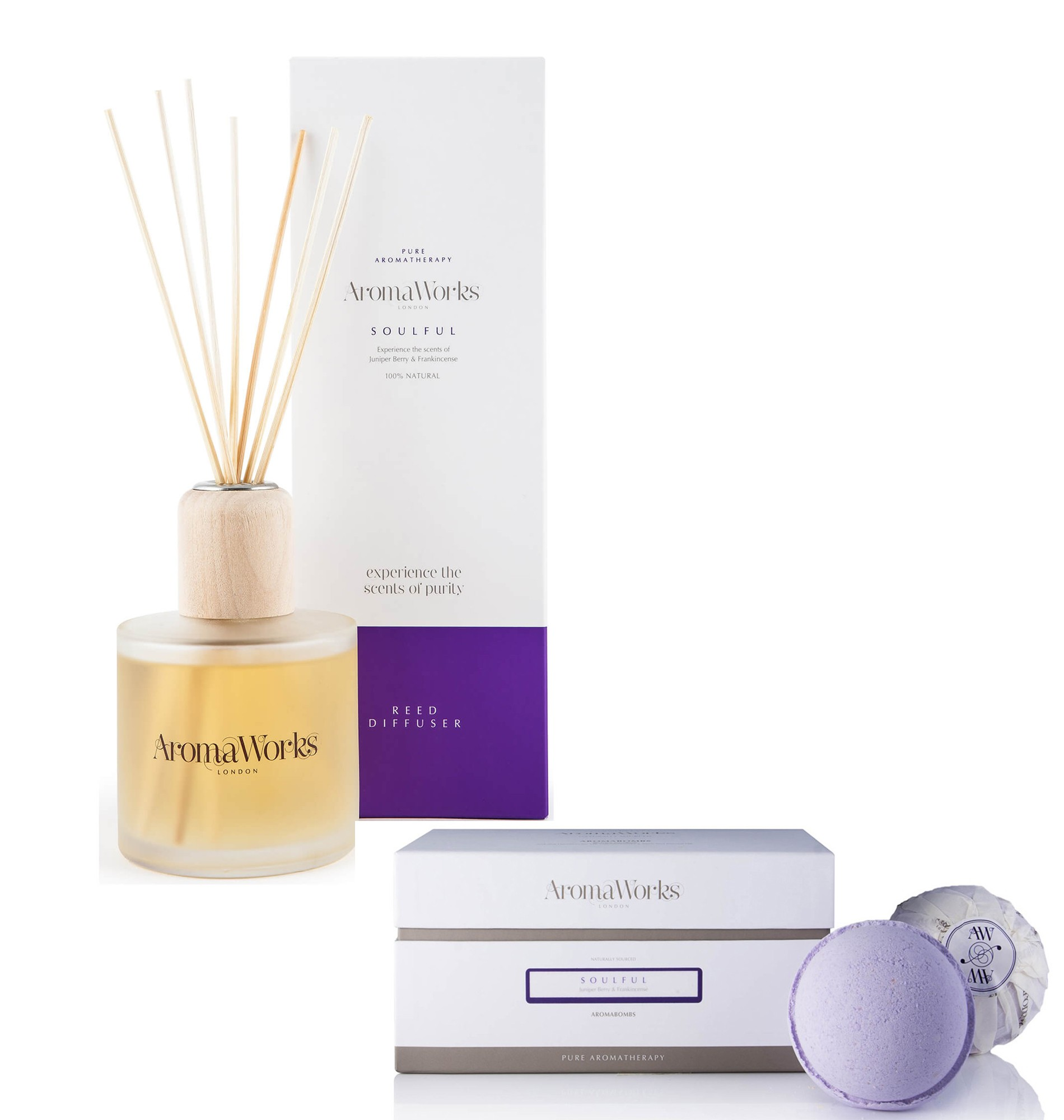 Aromaworks Soulful Reed Diffuser & Bombs Set
