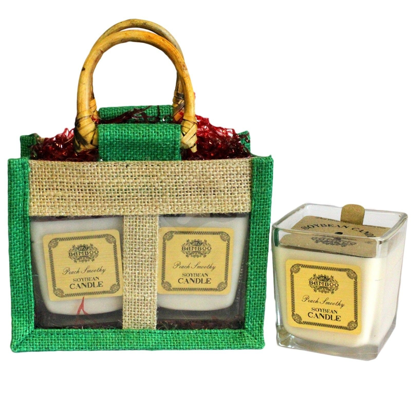 Soy Fruity Candles in Jute Bag Gift Set