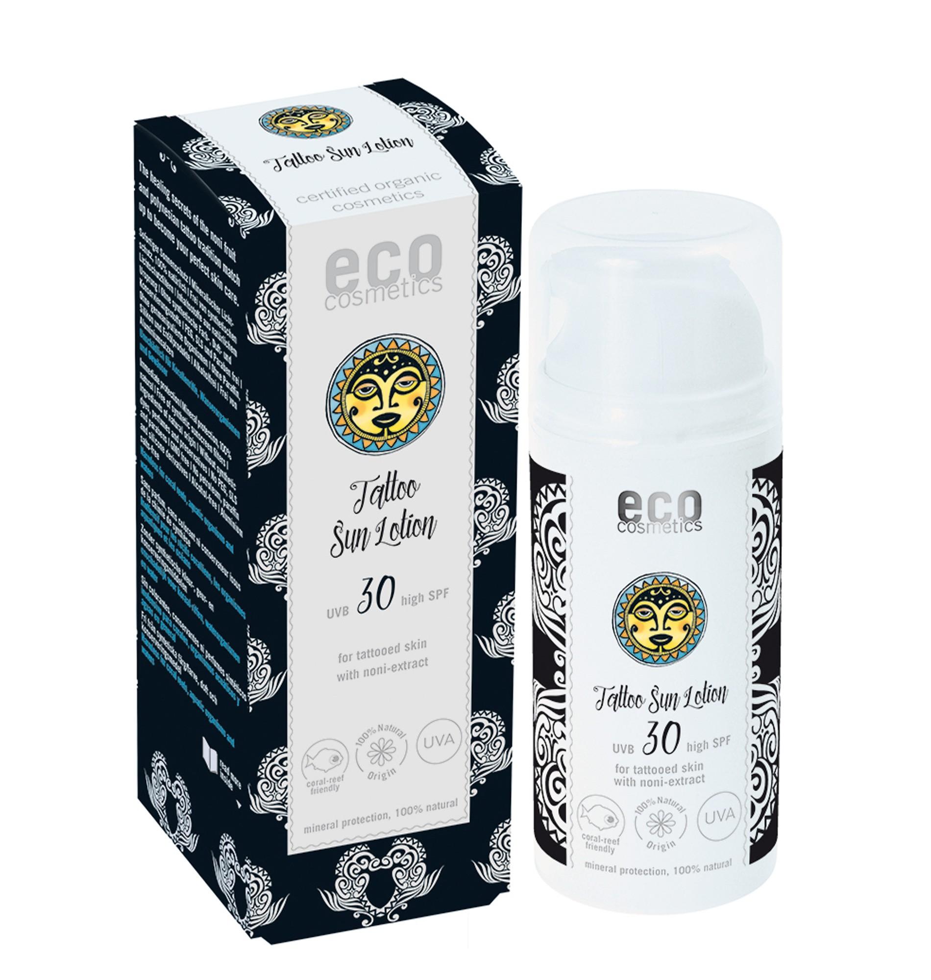 Eco Cosmetics Natural Tattoo Sun Lotion SPF30
