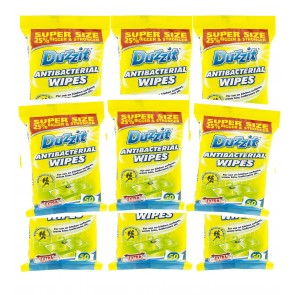 12 x Duzzit Disinfectant Antibacterial Wipes 50 x Pack