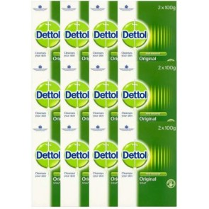 12 x Dettol Twin Pack Anti-Bacterial Soap100g each