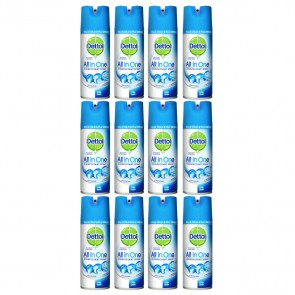 14 x Dettol All In One Disinfectant Spray Crisp Linen 400ml