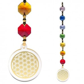 Chakra Feng Shui Flower of Life Gold  Healing Charged