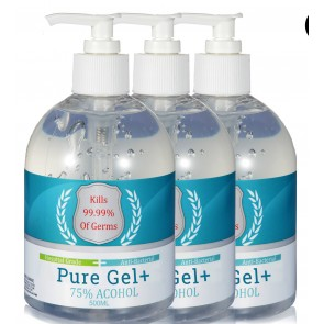 3 x Pure Gel Hand Sanitiser Gel 500ml