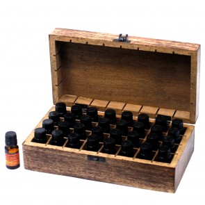 Aromatherapy Carved Wooden Box- 32 Essential Oils Set
