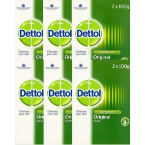 6 x Dettol Twin Pack Anti-Bacterial Soap100g each