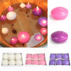 6 x Large Floating Candles