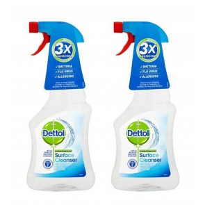 2 x Dettol Anti-Bacterial Surface Cleanser Spray Against Virus & Bacteria