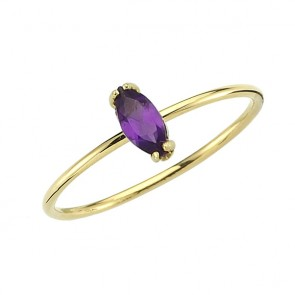 Ana Dyla Kissed Amethyst Ring 14ct Gold