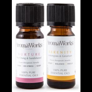 Aromaworks Serenity & Nurture Essential Oils Duo