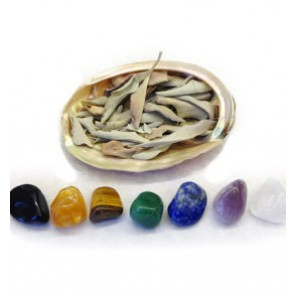 Natural Abalone Shell Cleansing Crystal Set