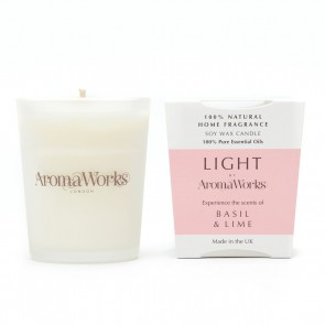 Aromaworks Light Range Basil & Lime Candle 10cl Small